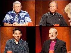 "Insights on PBS Hawaii with moderator Malia Mattoch: What will be the impact of Hawaii's decision regarding same-sex marriage?""  Panelists top left clockwise:   Sam Slom, (R) State Senator, 9th District, Hawaii Kai, Kuli'ou'ou, Niu, 'Aina Haina, Wai'alae-Kahala, Diamond Head;   Gary Secor, Vicar General, Roman Catholic Church Hawaii;  Robert Fitzpatrick, Bishop, Episcopal Diocese of Hawaii;  Chris Lee, (D) State Representative, 51st District, Kailua, Waimanalo"