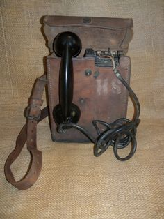 WWII U.S. Army Military field phone with by KimCycleDesigns