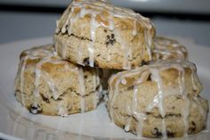 Glazed Cinnamon Raisin Scones