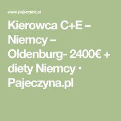 Kierowca C+E – Niemcy – Oldenburg- 2400€ + diety Niemcy • Pajeczyna.pl