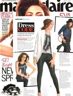 (March 2012) @Marie Claire: Slash Bracelets