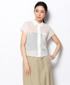 MARGARET HOWELL WOMENS / SWISS DOT STRIPE ¥31,320