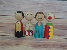 Finger Puppets are sure to make your little one smile. The pegs have a smooth tapered inside to allow for comfortable and fun play. The pegs are