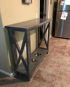 Rustic X Console, pet mods! http://www.ana-white.com/2012/05/plans/rustic-x-console  #glamourwithahammer