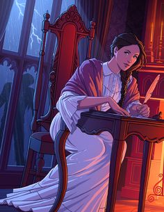 Tamiart: Mary Shelley began writing her novel Frankenstein when she was only 18 years old. It starte. Frankenstein Art, Mary Shelley Frankenstein, Fantasy Dragon, Fantasy Art, Dian Fossey, Celtic Warriors, Arte Horror, Classic Literature, Women In History