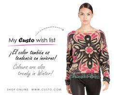 Colours are also trendy in Winter!  Shop custo.com