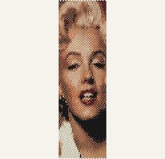 Marilyn Monroe 2 - Beadweaving Bracelet Pattern for Peyote Stitch