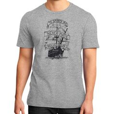 A smooth sea never made a skilled sailor District T-Shirt (on man)