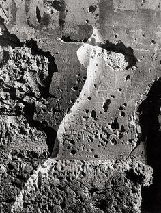 Jaroslav Vavra - Female nude and wall structure (sandwich negative), 1958