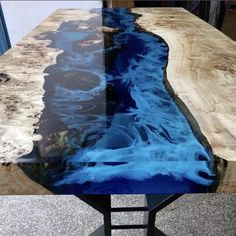 Dining Table With Bench, Dining Table In Kitchen, Epoxy Wood Table, Diy Resin River Table, Timber Table, Esstisch Design, Wood Table Design, Resin Furniture, Acrylic Table
