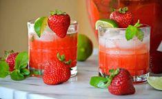 Strawberry mojito with thermomix – Face Mask Irish Cream, Fun Cocktails, Fun Drinks, Beverages, Refreshing Drinks, Summer Drinks, Cocktail Thermomix, Tequila, Easy Mojito Recipe
