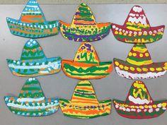 Hispanic Heritage Month: kindergarten sombreros Hispanic History Month, Hispanic Art, Hispanic Heritage Month, Kindergarten Projects, Art Education, Social Studies, Brick, Students, Teacher