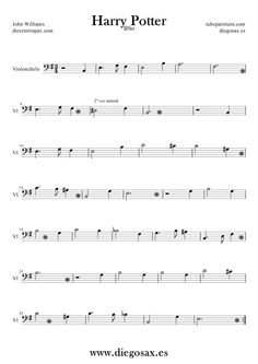 cello sheet music for harry potter theme - Google Search