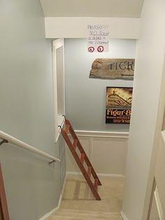 A basement slide and great basement redo!