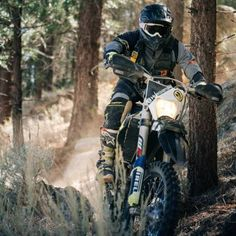 Nothing better than the forest and a wrist full of throttle. ✊ & his happy place. Motorcycles, Motorbikes, Motorcycle, Choppers, Crotch Rockets
