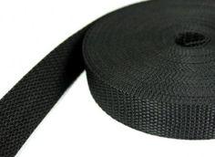 10m PP Gurtband - 50mm breit - 1,2mm stark - schwarz (UV)