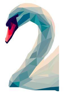 Swan Geometric Art | pinterest.com/emilylan752