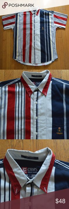 Vintage Chaps Ralph Lauren button down This piece has way too much heat!  Get this one and there is no keeping up with it. Size large but fits bigger like an XL. Great condition.  Serious offers only Chaps Shirts Casual Button Down Shirts