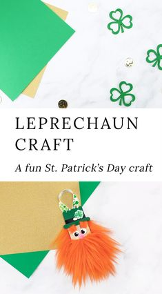 Learn how to make a fun popsicle stick leprechaun craft with our step-by-step directions and video tutorial. It's the best St. Patrick's Day craft for kids! St Patricks Day Crafts For Kids, Easy Crafts For Kids, Crafts To Make, Fun Crafts, Diy Popsicle Stick Crafts, Popsicle Sticks, St. Patrick's Day Diy, Orange Craft, St Patricks Day Quotes