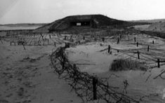 Bunkers on the beach at Ouistreham