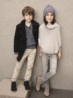 In diesem Herbst/Winter wird es auch bei den Kids farblich etwas ruhiger (Marke: Marc O´Polo).