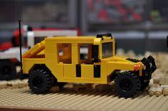 LEGO City Hummer HMMWV SUV Truck Yellow Vehicle