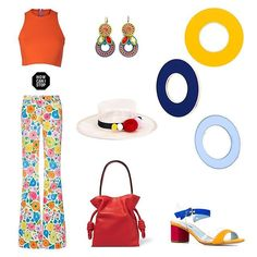 Have fun styling with bold colors and...our Happy earrings!   #DoriCsengeri #boldcolors #hoopearrings #springtrends #happycolors #styling #fashionaccessories