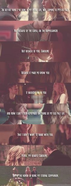Klaus and Caroline awww <3 I want them to happen so bad!!