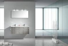 Tona Grey Ash Modern Wall Mount Bathroom Vanity, Double Sink - The Vanity Store Canada - - 1 Bathroom With Makeup Vanity, Ikea Bathroom Vanity, Floating Bathroom Vanities, Bathroom Vanity Makeover, Bathroom Vanity Lighting, Modern Bathroom, Bathroom Grey, Single Sink Vanity, Vanity Sink
