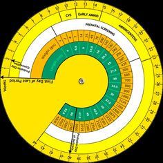 Pregnancy Wheel | Calculating Due Date with an OB Wheel. Useful tool.