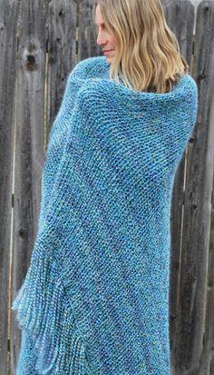 Double Knit Afghan w/ Fringe - free pattern - knitting loom