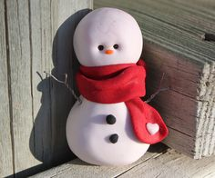 Red Scarf Snowman | by SS Designs by Lori Allberry