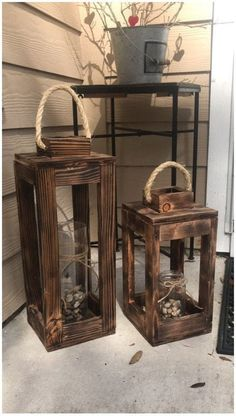 Woodworking Projects Diy, Wooden Crafts, Diy Wood Projects, Wooden Diy, Outdoor Wood Projects, Wood Projects That Sell, Wooden Decor, Wooden Lanterns, Lanterns Decor