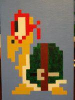 Koopaphael (Koopa Troopa Raphael) pixel mashup by thepixeldad