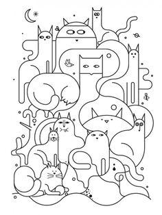 leuke illustratie katten
