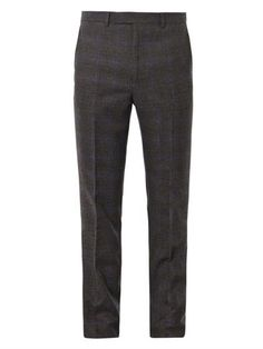 Prince of Wales-check trousers   Gieves & Hawkes   MATCHESFASH...