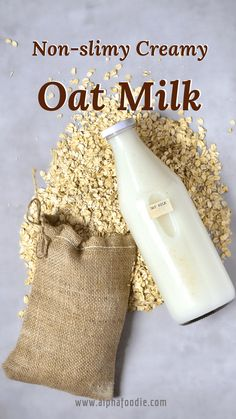How to make homemade oat milk with just a two ingredient base, that can be flavoured as a delicious dairy-free alternative! And, most importantly, how to make oat milk that isn't slimy! Flour Recipes, Milk Recipes, Free Recipes, How To Make Oats, Dairy Free Alternatives, No Flour Pancakes, Nut Milk Bag, Plant Based Milk, Dairy Free Milk