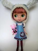LOTS of cute patterns for Blythe and petite Blythes here ~ http://www.4shared.com/dir/OzL122GT/blythe_doll_patterns.html   < This is the pinafore dress, there are also patterns for bunny hats, overalls, tops, dresses, et.c :)