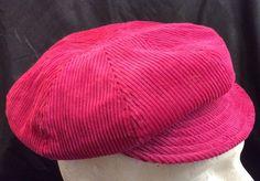 BAKER BOY STYLE CORDUROY CERISE PINK WINTER CAP / HAT - TEENAGER /SMALL LADIES