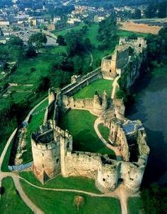Chepstow Castle  was used as a prison. Its most notable guests included the Royalist Bishop Jeremy Taylor and the Regicide, Henry Marten. |  via: guide-to-castles-of-europe.com