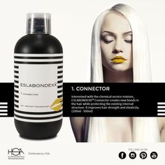 Eslabondexx system: we are pleased to introduce product number 1, Connector  #hair #hairstyle #haircolour #haircolor #fashion #style #longhair #curly #straight #black #brown #red #blonde #hairfashion #coolhair #bauty #nouvellecolor #hsacosmetics #silkycolor