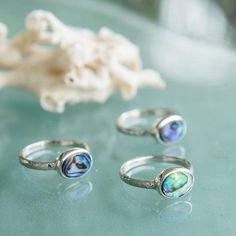 Sea Gypsy Paua Shell Ring