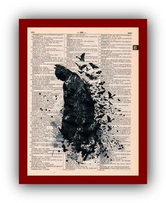 Batman Poster  Art Print: Upcycled  Dictionary Pages   Children's Wall Art  Super Hero Wall Decor Art Home Decor by Gardarica on Etsy https://www.etsy.com/listing/189419622/batman-poster-art-print-upcycled
