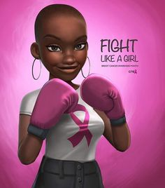After skin cancer breast cancer is the second commonly diagnosed cancer in women in the US. One in eight women will develop breast cancer, according to the Black Love Art, Black Girl Art, Art Girl, Style Afro, Good Morning People, Natural Hair Art, Black Girl Cartoon, By Any Means Necessary, Black Art Pictures