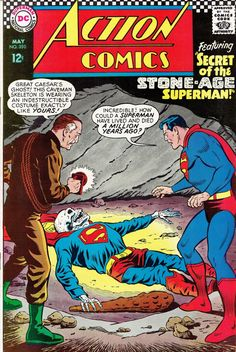 Action Comics #350 - Secret of the Stone-Age Superman! / The Anti-Supergirl Plot!