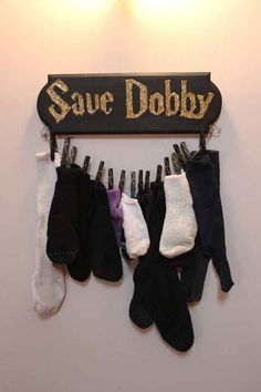 Cleverly store their matchless socks. What a fantastic idea!