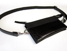 Black Wallet Belt Bag, HipstersforSisters.com #beltbag #fannypack #bumbag