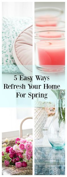 Easy ways to refresh your home for spring and summer. Decorating with fresh color… Decorating On A Budget, Summer Decorating, Coastal Decor, Diy Home Decor, Eclectic Decor, Used Cardboard Boxes, Spring Crafts, Holiday Crafts, Holiday Decor