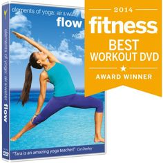 """Flow Yoga: Elements of Yoga: Air & Water with Tara Lee. """"Create your own perfectly timed workout by shuffling the three min segments; the first is stretchy, the is more intense toning and the is meant for chillaxing"""" Target: FIRM Jillian Michaels Yoga, Best Yoga Dvd, Fitness Magazine, Yoga Lifestyle, Yoga Videos, Yoga Flow, Yoga For Beginners, Yoga Teacher, How To Do Yoga"""