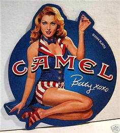 RJ R Camel Cigarette 3 Pinup Pin Up Girl Betty Coaster in Collectibles, Tobacciana, Cigarettes Pub Vintage, Pin Up Girl Vintage, Vintage Metal Signs, Retro Advertising, Retro Ads, Vintage Advertisements, Vintage Cigarette Ads, Pin Up Illustration, Cartoon Girl Images